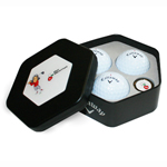 5316 Callaway Three Ball HEX Tin w/Ball Marker